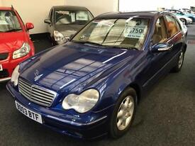 2003 MERCEDES BENZ C CLASS C200K Elegance SE Auto. From GBP2950+Retail package.