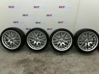 "4 x 18"" Staggered BMW 3 Series E46 E90 CSL Style Alloy Wheels 18"" 5X120"