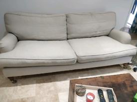 SofadotCom 3 seater sofa in oatmeal linen