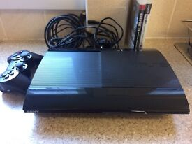 PS3 slim 12gb with 2 games