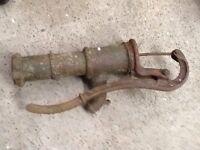 Old iron pump