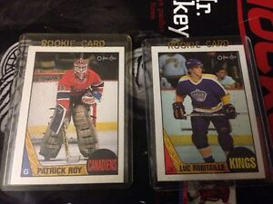 Patrick Roy second year and Luc Robitaille rookie card