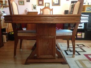 Dark Walnut Oak dining room set