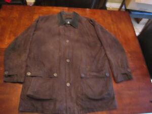 London Fog- Men's Suede jacket in Brown