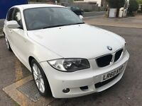 BMW 1Series M Sport 2010 In White, Low Mileage, Immaculate Inside+Out, F/S/H, 7M MOT, High Spec!