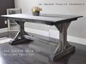 Brand New Trestle Dining Table. Available Now