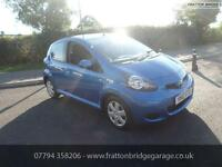 TOYOTA AYGO BLUE VVT-I F.S.H Low Miles Bluetooth Air Con, Blue, Manual, Petrol,