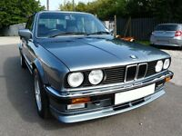 BMW E30 325i Convertible Manual, Low Mileage