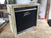 Peavey amp. Reclaimed wood