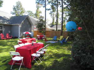 Party rentals chairs tables & more