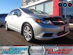 Honda Civic Sdn EX   FWD   Bluetooth   Moonroof 2012