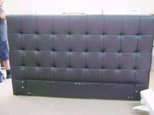 ELEXA KING BED-BLACK LEATHER Headboard - SELL AS-IS Malaga Swan Area Preview