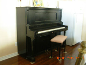 Stroud New York Player Piano circa1920,peint noir,acajou sanfume