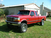 1990's Ford F-250 or 350 diesel  MUST BE 4x4