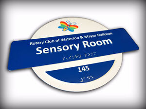 Braille and Tactile ADA / ADOA Custom Designed Signs Kitchener / Waterloo Kitchener Area image 4