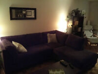 Brown Microfibre Couch / Chaise lounge - Almost new! (1.5 years)