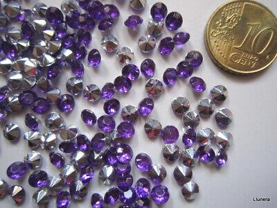 Cristal facetado diamante 4,5 mm violeta X 60 UNIDADES acrílico para pegar