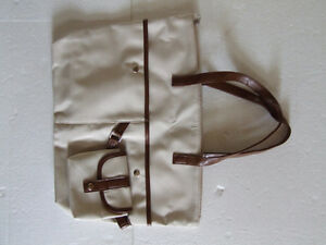 Women's off white brown handbag purse shoulder bag NEW