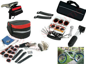 Bike-Cycle-Bicycle-Tool-Kit-Carry-Case-Saddle-Bag-Pump-Tyre-Puncture-Repair-Set