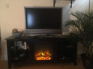 BRAND NEW, NEVER OPENED Fireplace entertainment set