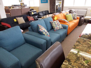 Large selection of new sofas, love seats and chairs. Come see.