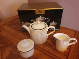 Brand New Portmeirion Studio 3 Piece Teapot Set