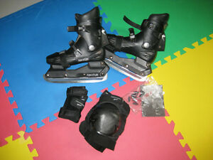 Black Ice Skates / Inline Skates, convertable, women size 6.5