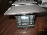 SOLAR Fence Light Post - CAST IRON