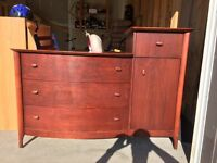 Cherry wood kids dresser with change table