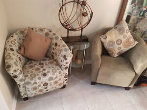 TWO ACCENT CHAIR SET $300 FOR BOTH!