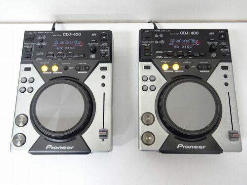 Pioneer CDJ-400 2 SET Pair CD/Digital Media Player DJ Player Working