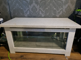 Solid marble 2 ft coffee table fish tank