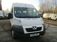 PEUGEOT BOXER MINIBUS 12 SEATER WITH WHEELCHAIR ACCESS £10995+VAT
