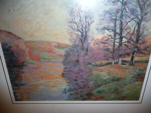 "Impressionist ""Autumn Reflections' Matted Art Print Stratford Kitchener Area image 9"