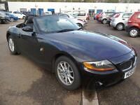 2005 BMW Z4 2.0i SE Roadster Convertible 86K FSH Black Leather Upholstery VGC