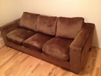 Brown Suede Biltmore Couch / Divan / Sofa