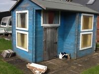 Wooden two storey playhouse