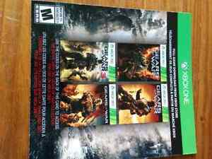 Gears of war 123 and judgement download codes for both xbox
