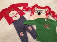 NEXT Christmas bundle of girls toddler baby clothes 9-12 months