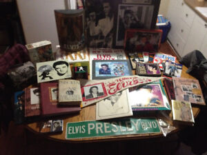Vintage Elvis Collectibles! Tins, Cards, CDs, Books, Banners
