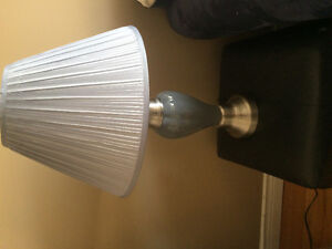 Pewter & Porcelin Grey Table Lamps