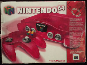Watermelon Red N64 with Rare Games - Great Condition