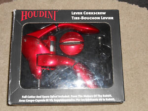 Houdini Lever Corkscrew Bottle opener