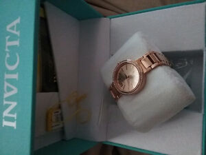 Rose gold Invicta watch