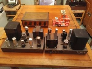 Vintage Vacuum Tube Components - 2 Amps & a Preamp