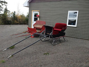 Vintage Sleigh and Cart