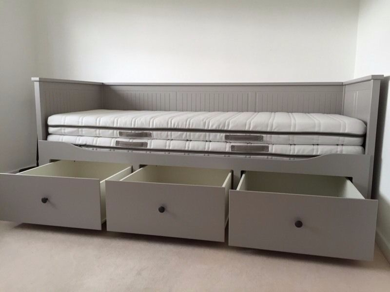 Ikea hemnes day bed in perfect condition as new grey day for Ikea grey bedroom furniture