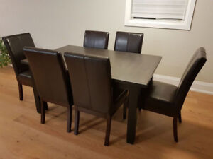 ** Dining Set: Table from IKEA (STORNÄS) and 6 COSTCO Chairs **