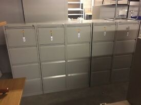 Bisley 4 drawer filling cabinets