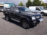 Mitsubishi L200 2.5 TD Warrior d/cab only 80,000 miles